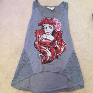 Hot Topic Disney Little Mermaid Ariel Lace Tank